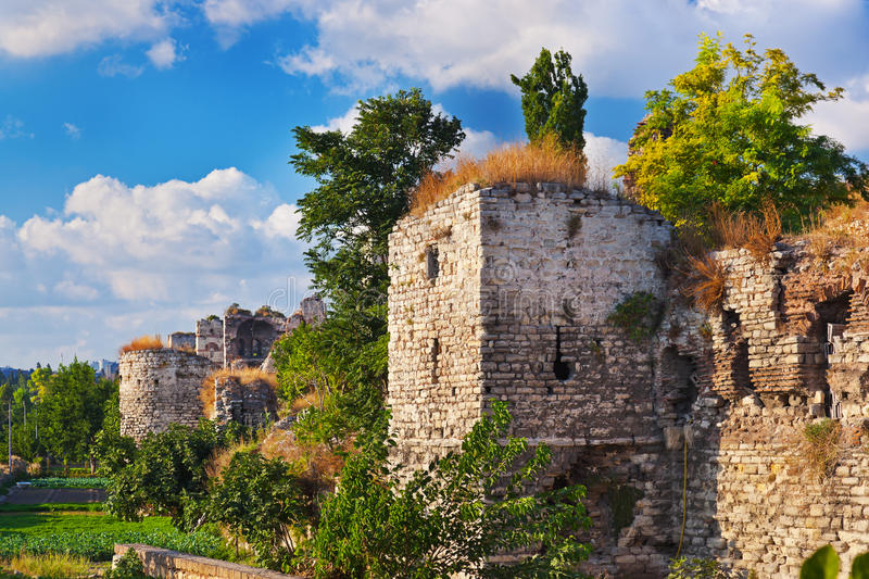 Old fortress at Istanbul Turkey. Architecture background stock photo