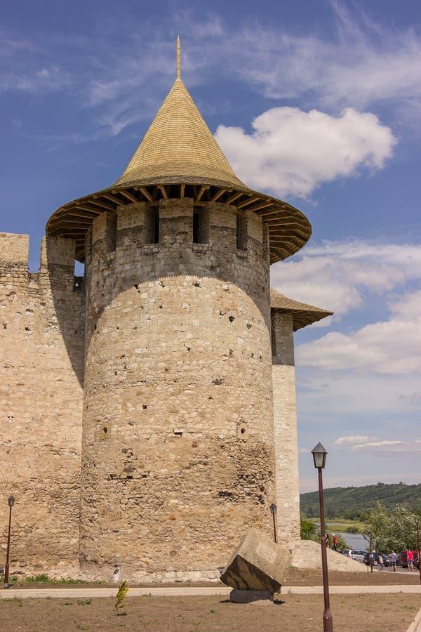 Old fortress in Soroca, Nistru river, Moldova stock photography