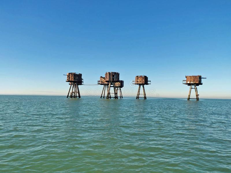 Old Forts. The abandoned Forts in Kent, quite a tourist attraction stock photo