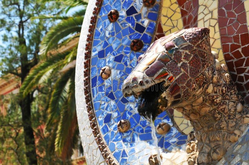 Download Old fountain stock image. Image of gaudi, dragon, fountain - 25873255