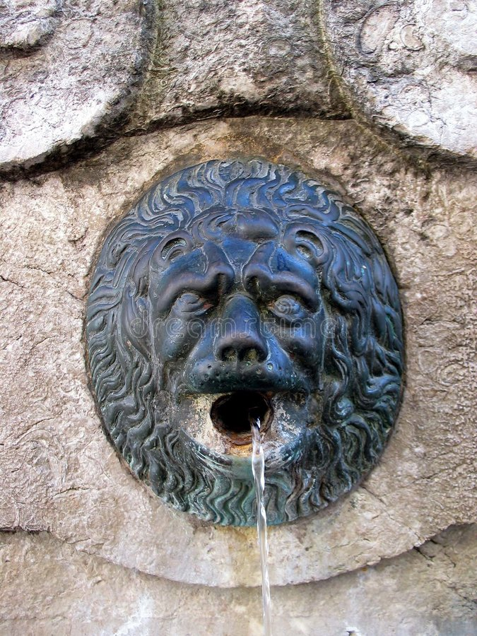 Old fountain detail. Tuscany. stock photography