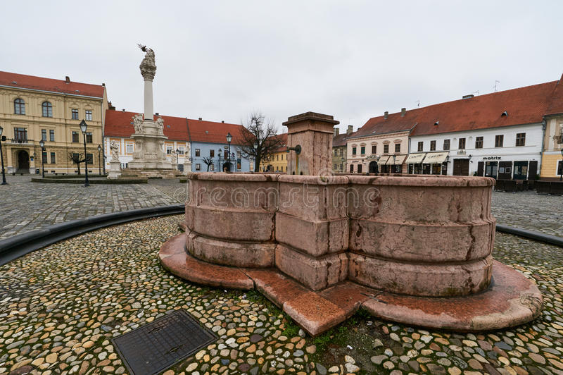 Old fountain in Osijek. royalty free stock photos