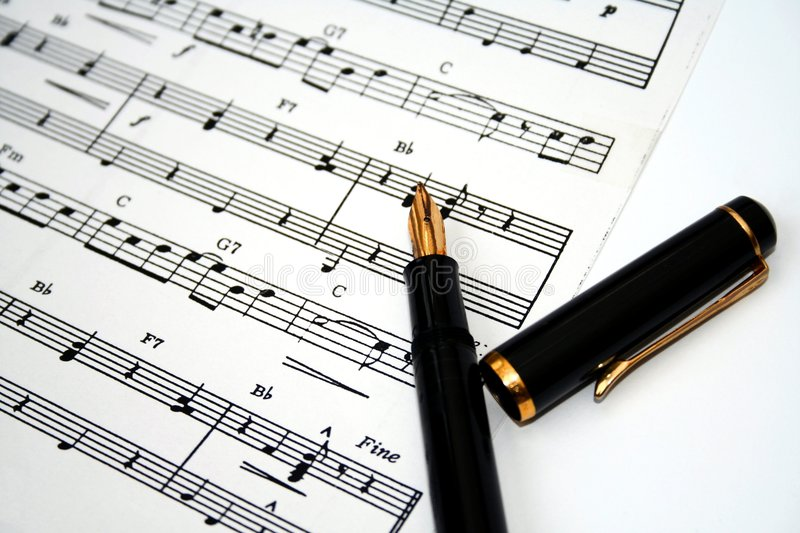 Old fountain pen and note paper royalty free stock photos