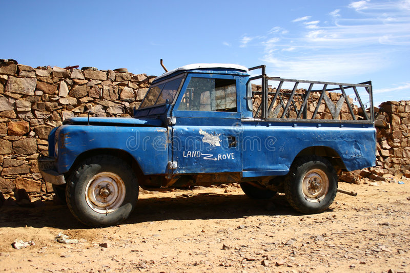Old Four Wheel Drive Pick-up Truck Royalty Free Stock Photos