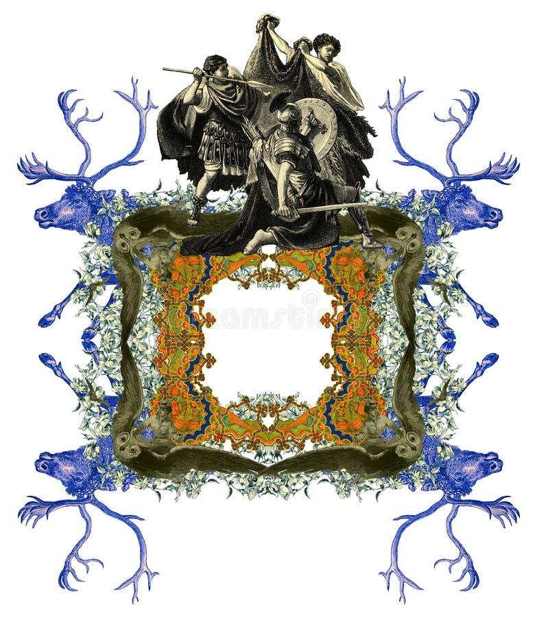Download Old Frame stock illustration. Image of quiver, helm, luxury - 22981861