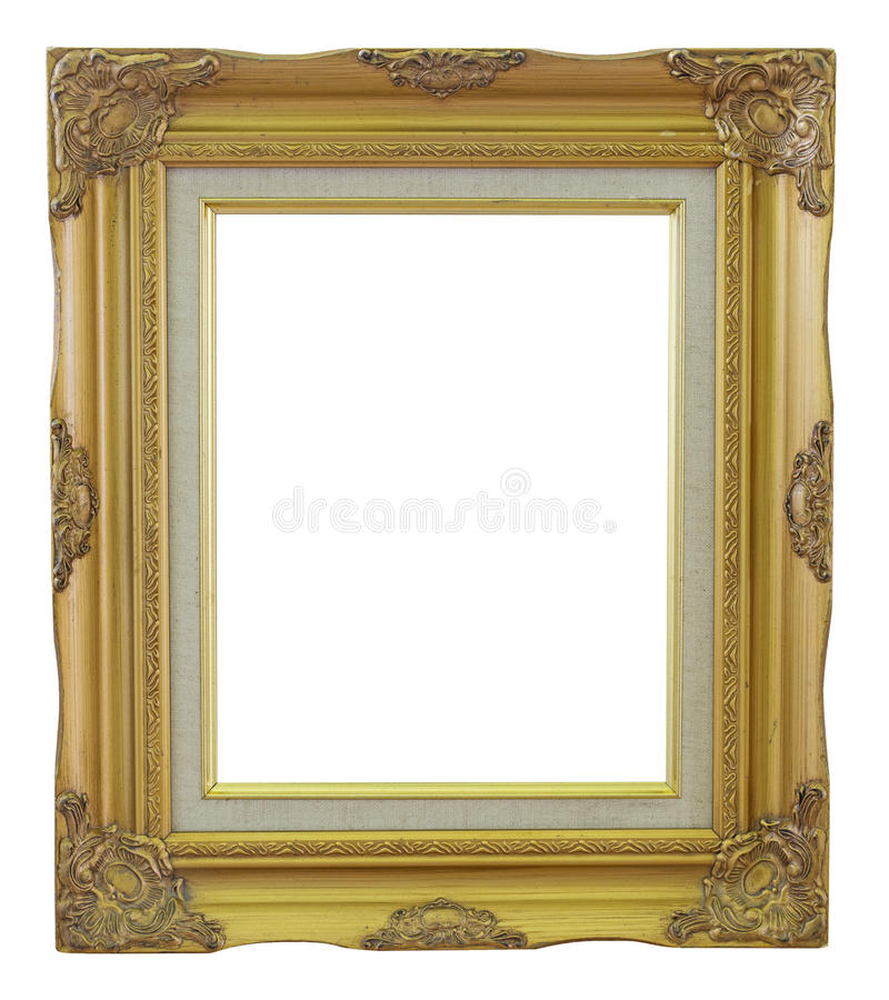 Old Frame gold and copper vintage isolated background. royalty free stock photos