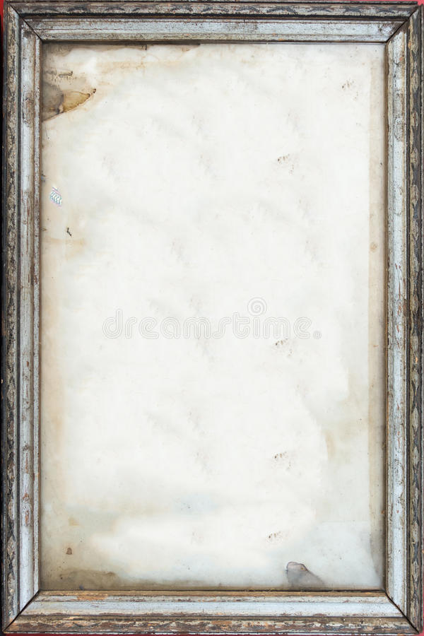 Old frame for photo stock photo