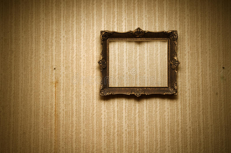 Download Old frame on retro wall stock photo. Image of home, aged - 16635068