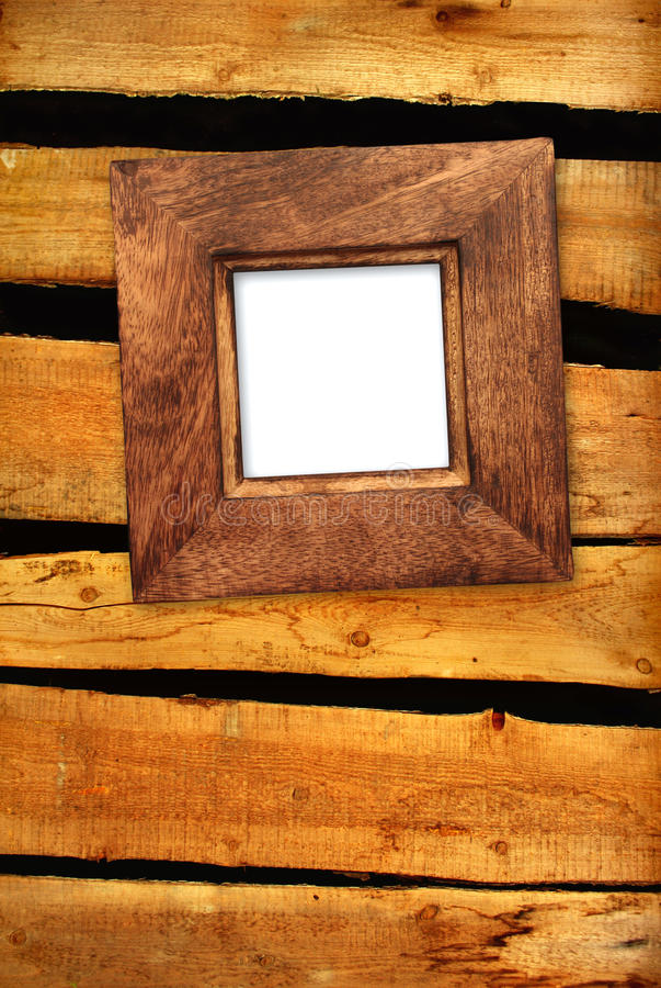 Download Old frame on wooden wall stock illustration. Image of texture - 24257213