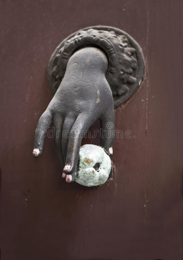Download Old French Hand Door Knocker Stock Image   Image Of Varnish Nail  66121221