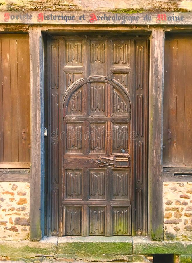 Old French Wooden Door stock photography