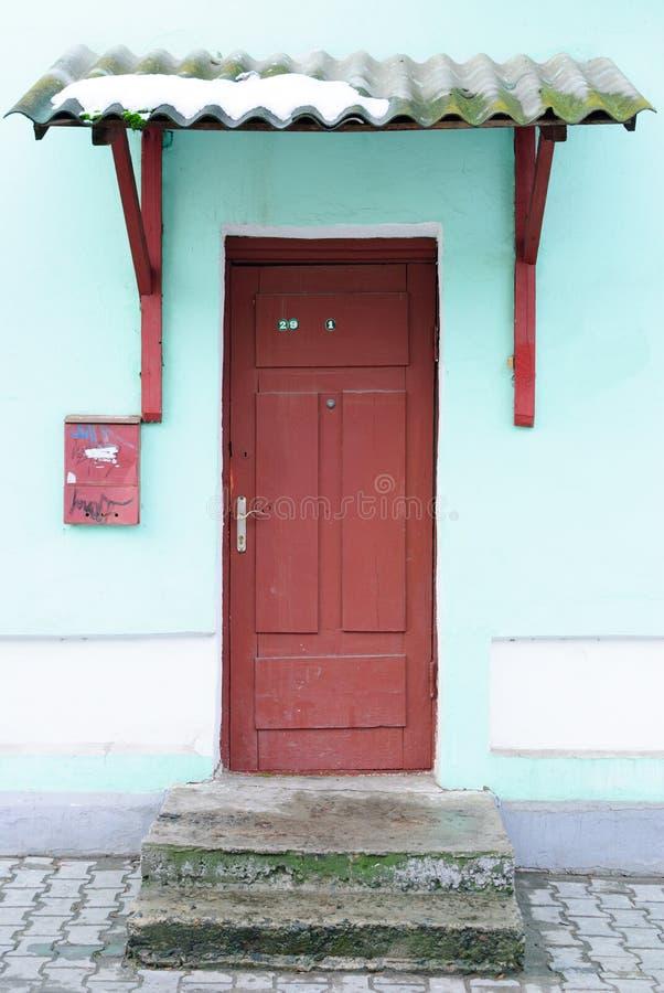 Download The old front door stock image. Image of doorstep, front - 23109327