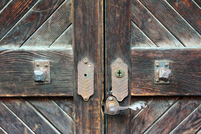 Old front door royalty free stock photos