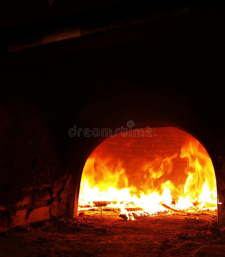 In the old furnace! stock photo