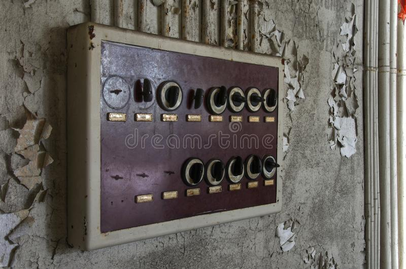 old fuse box in an abandoned hall stock image image of destroyed rh dreamstime com Knob and Tube Wiring Car Fuse Box