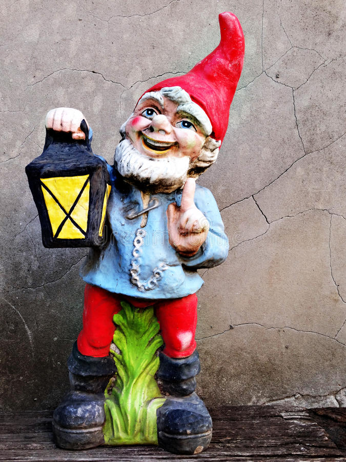 Old garden gnome royalty free stock photography