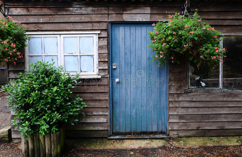Old garden shed royalty free stock photography