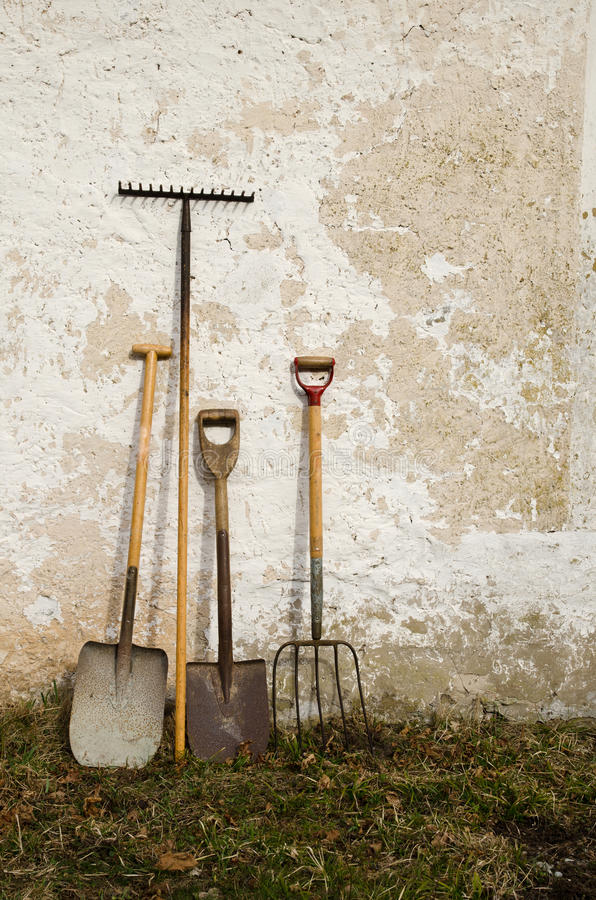 Download Old gardening tools stock photo. Image of blue, equipment - 24079424