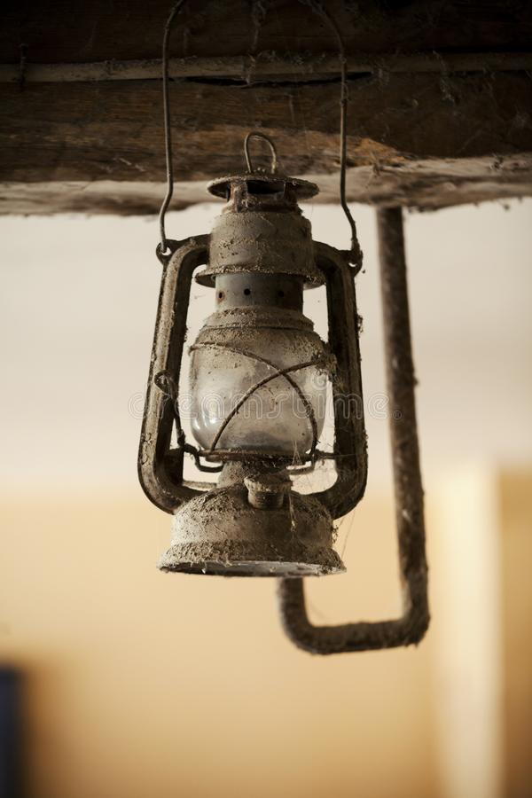 Old gas lamp stock photo
