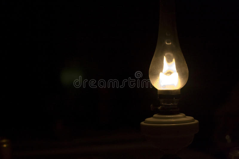 Old gas lamp royalty free stock photography