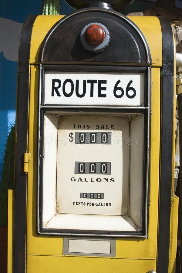 Old gas pump royalty free stock photography