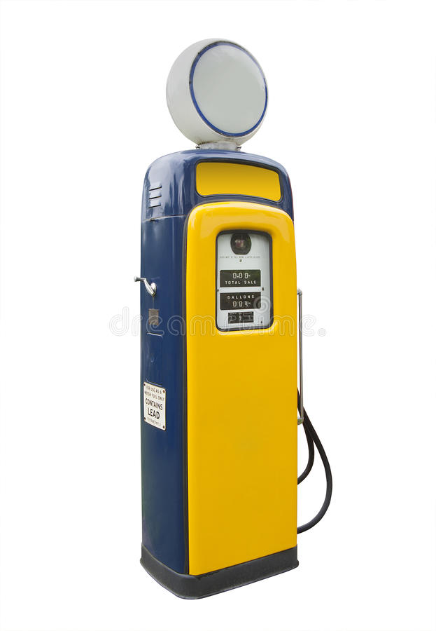 Old gas pump, isolated royalty free stock photo
