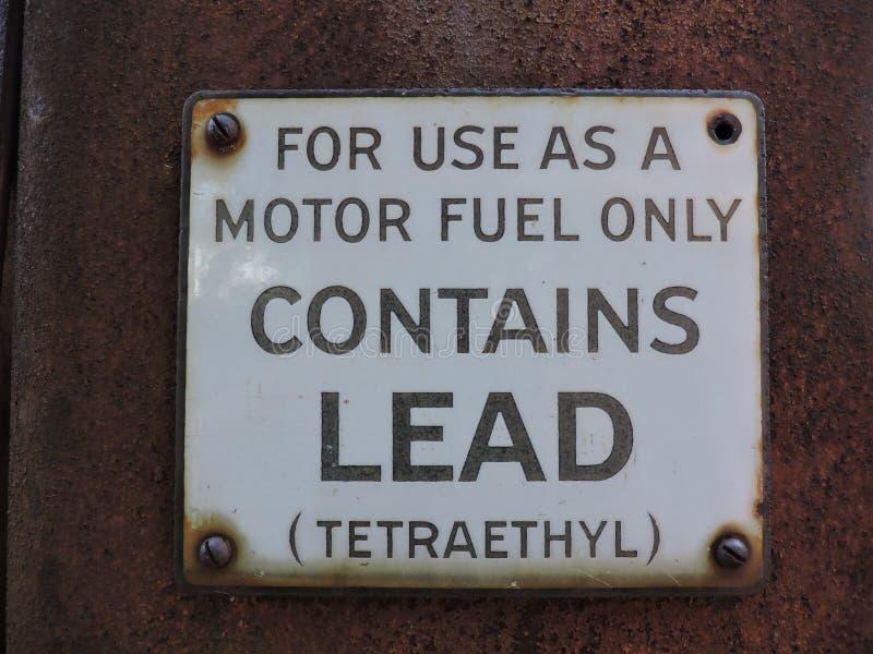 Old Gas Pump Sign stock photos
