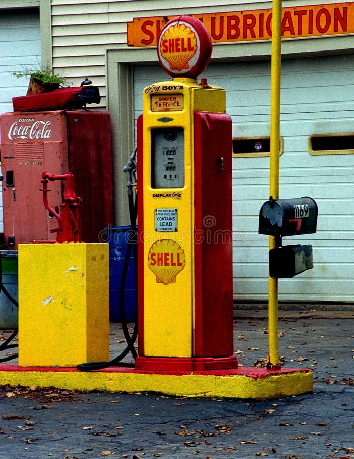 Old gas station royalty free stock image