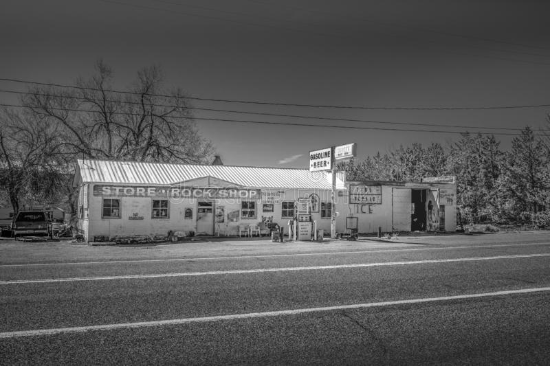 Old gas station in Benton - BENTON, USA - MARCH 29, 2019. Old gas station in Benton - BENTON, UNITED STATES OF AMERICA - MARCH 29, 2019 royalty free stock photos