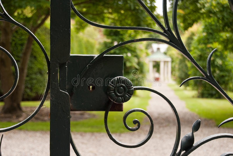 Old gate lock royalty free stock images