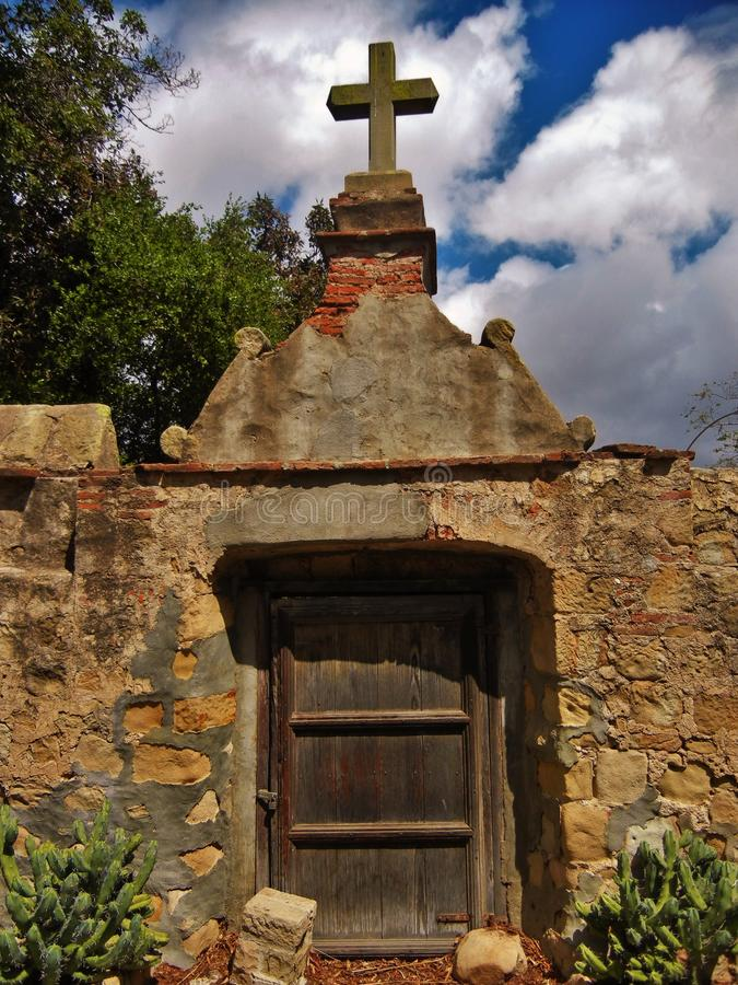The Old Gate. The Mission, Santa Barbara, California royalty free stock photo