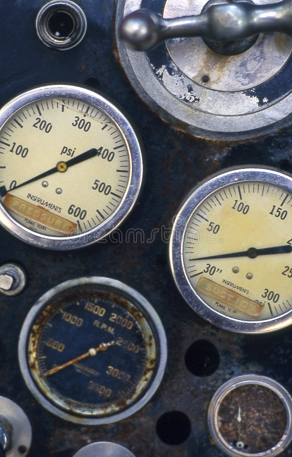 Old Gauges stock photography