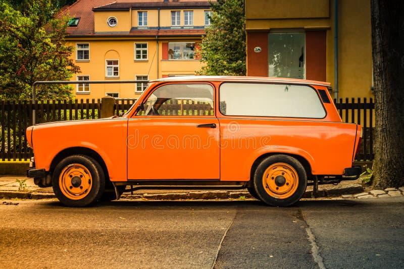 Old GDR Trabant car royalty free stock image