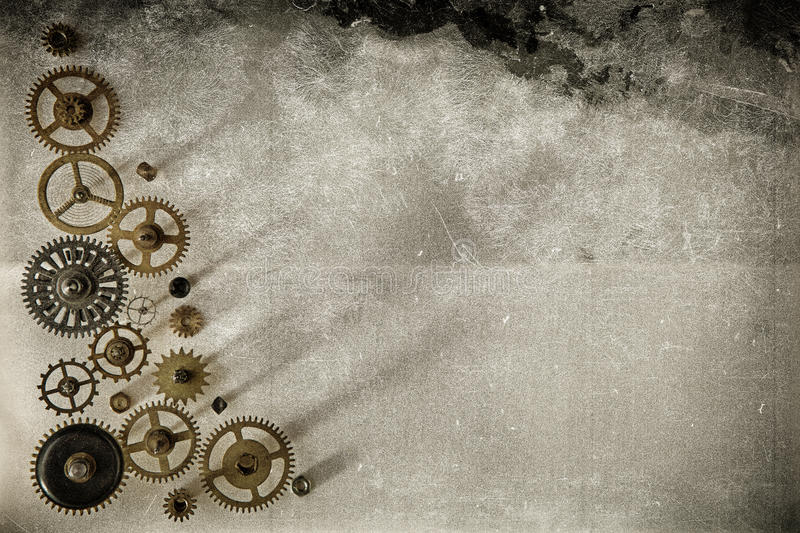 Old gears background royalty free stock photo