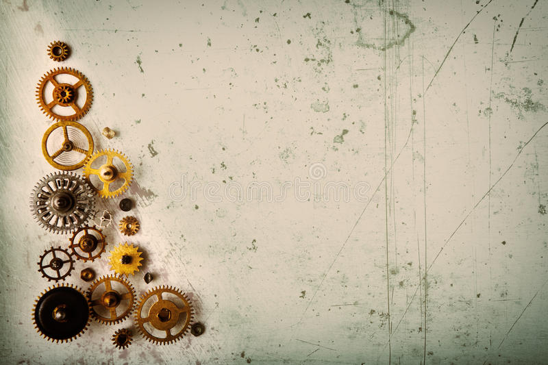 Old gears background stock photos
