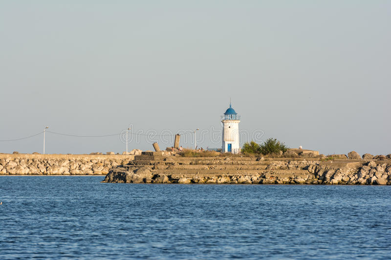 Old Genovese Lighthouse royalty free stock photos