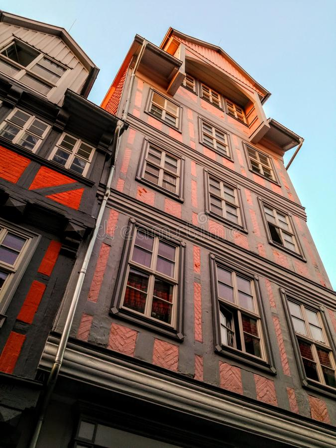 Old German architecture. In Guedlinburg royalty free stock images