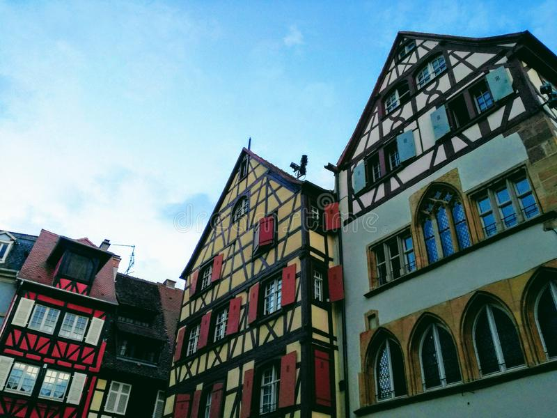 Old German architecture. On sky background royalty free stock photo