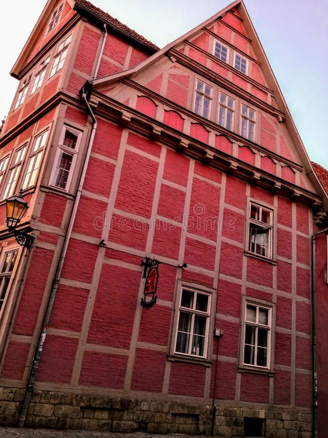 Old German architecture. In Quedlinburg royalty free stock photos