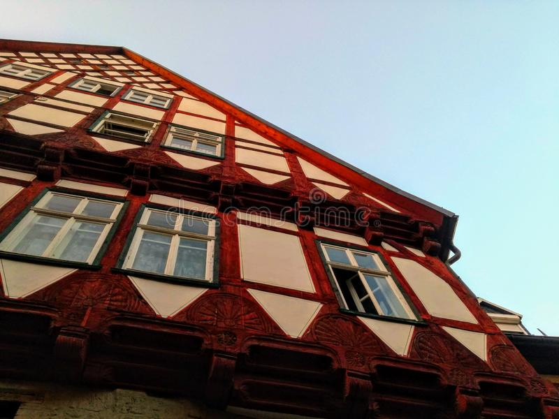 Old German architecture. On sky background royalty free stock images