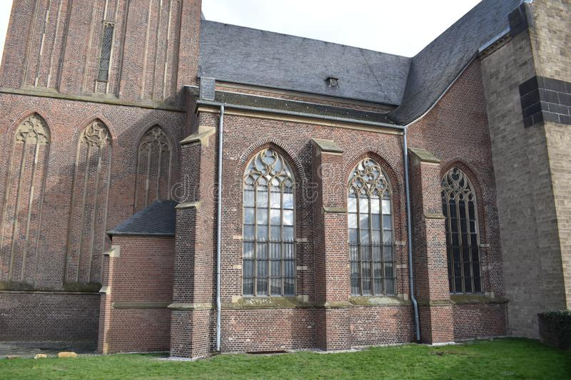 Old German church 6. A nice old German church in the village of Emmerich royalty free stock images