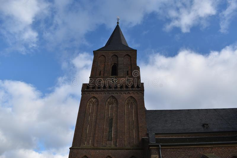 Old German church 9. A nice old German church in the village of Emmerich stock images