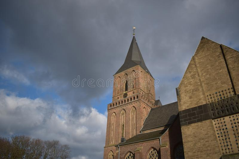 Old German church 17. A nice old German church in the village of Emmerich stock images