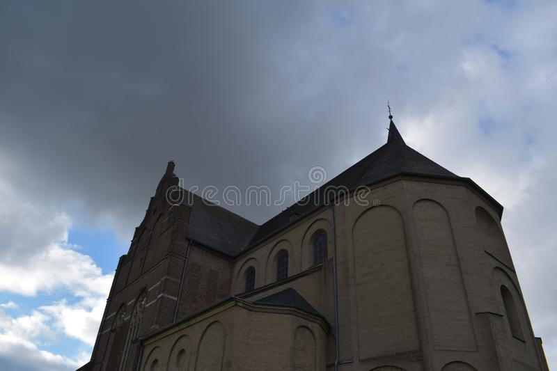 Old German church 24. A nice old German church in the village of Emmerich stock image