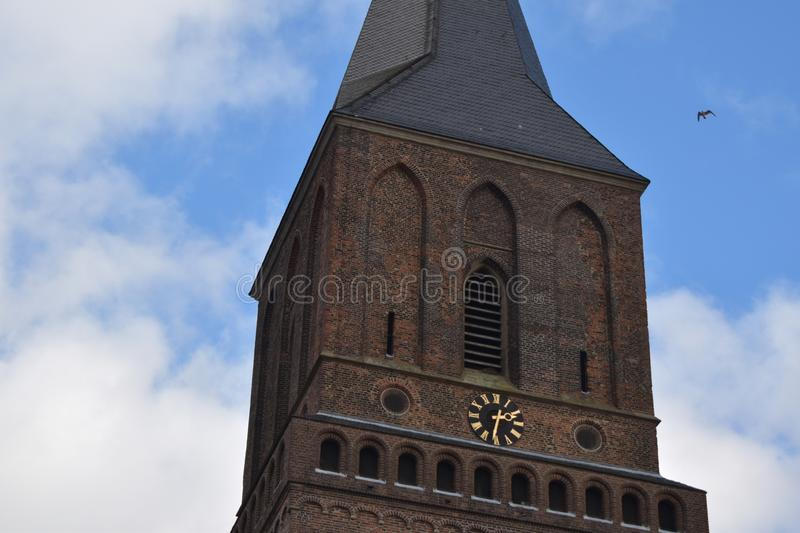 Old German church 13. A nice old German church in the village of Emmerich royalty free stock photography
