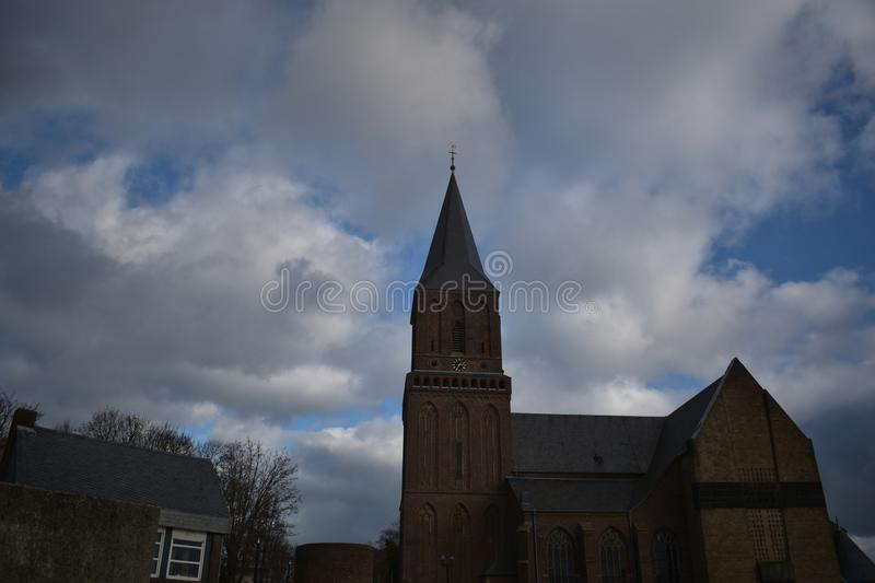 Old German church 16. A nice old German church in the village of Emmerich royalty free stock photography
