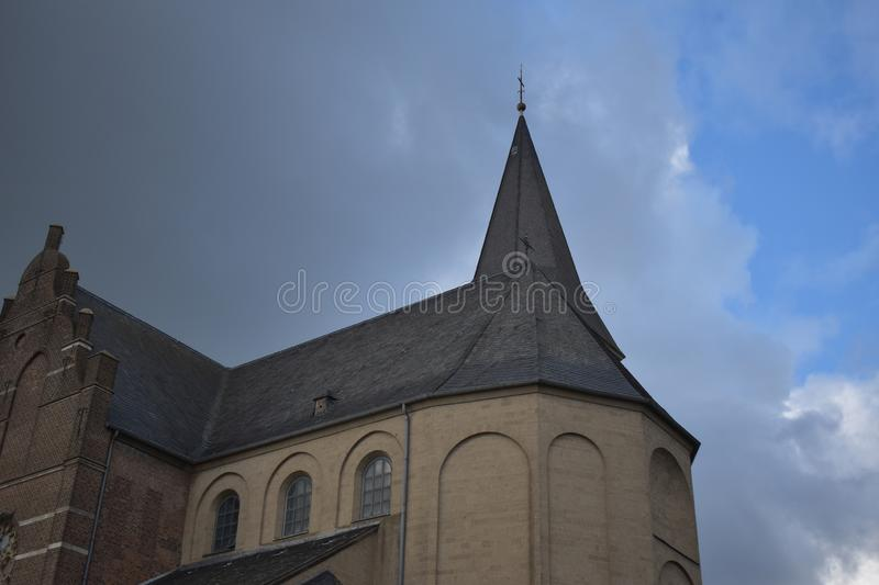 Old German church 21. A nice old German church in the village of Emmerich royalty free stock photo