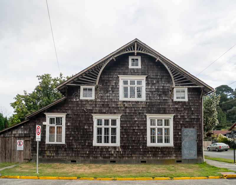 Old German House. With Shingle in Wood stock photography