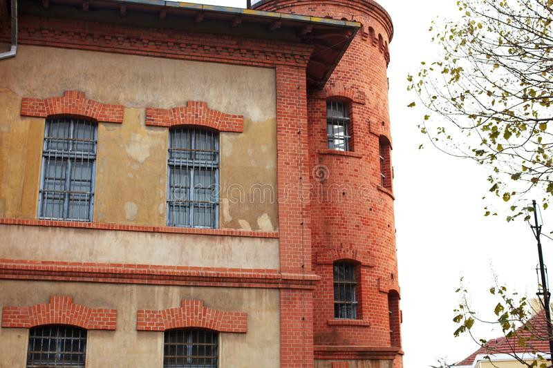 Old german jail. In Qingdao city of China, It worked in World War II stock photography