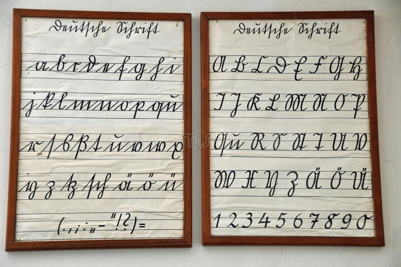 Alphabet Handwriting M N Stock Images